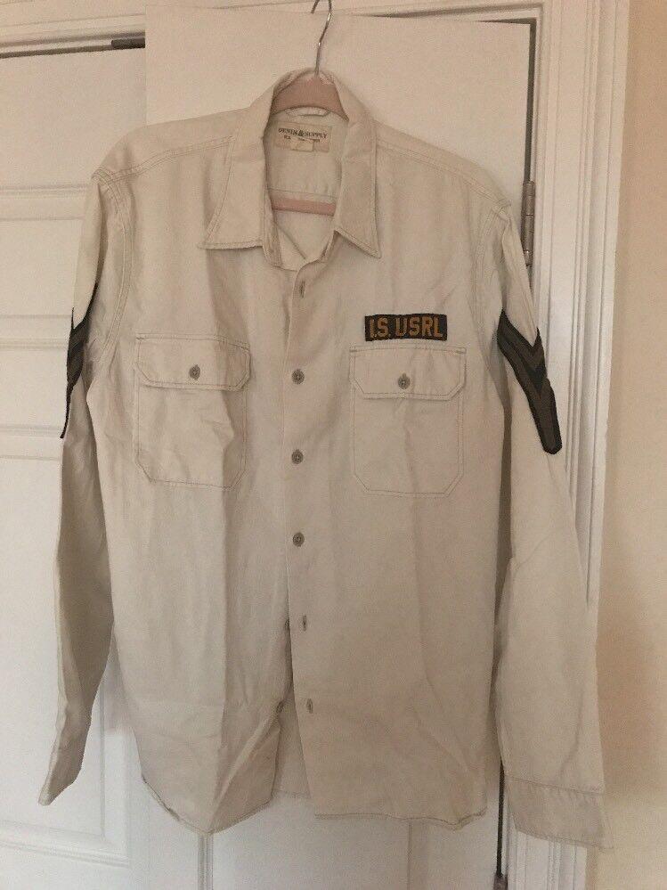 New Denim Supply Men's Military Shirt XL