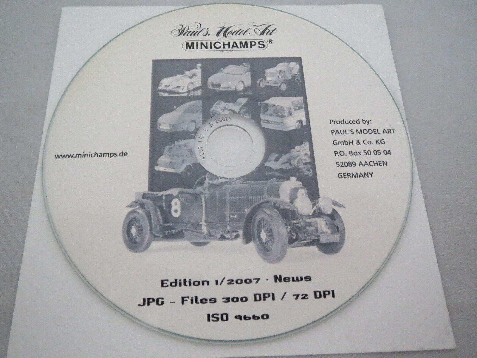 Paul's Paul's Paul's Model Art - Minichamps - 2007 - Edition 1 - CD mit Bildern aller Modelle  | Charmantes Design  f35a0b