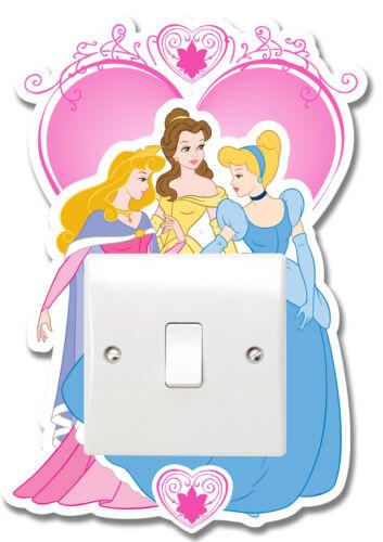 Disney Princess Interrupteur De Lumière Vinyle Autocollant Surround