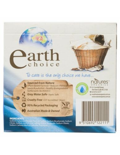 Earths Choice Ultra Concentrate Laundry Powder Top /& Front Loader 1kg