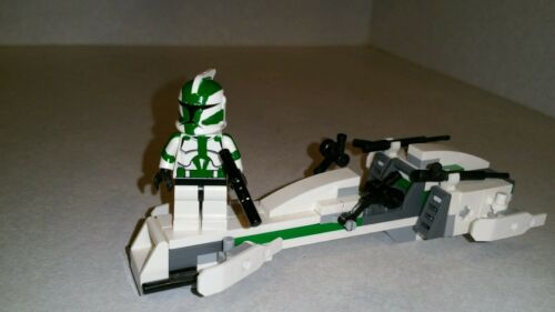 Lego Star Wars Commander Gree Clone Custom Figure and BARC speeder