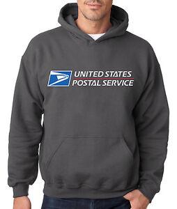 USPS POSTAL CHARCOAL HOODIE Hooded Sweatshirt US Logo United States Service