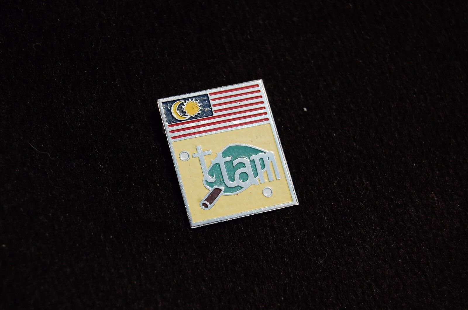 MALAYSIA (TTAM) table tennis association pin badge RARE