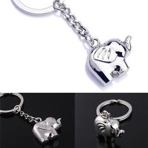 Vintage-Funny-Elephant-Gold-Keychain-Keyring-Key-Charm-Keyfob-Gift-SouvenirM-amp-C