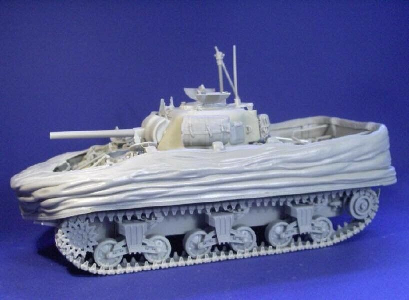 Resicast 1 35 Sherman M4A4 DD with Lowered Screen (Full Resin kit)
