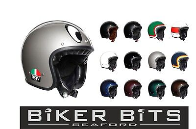 AGV Legends X70 Retro Open Face Scooter Motorcycle Bike Helmet Trofeo Blue XS