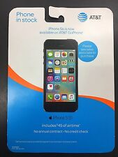 BRAND NEW UNOPENED AT&T GoPhone iPhone 5s 16gb Space Gray + $45 Airtime Included
