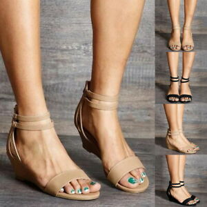 Women-Summer-High-Heel-Buckle-Ankle-Strap-Sandals-Wedges-Casual-Peep-Toe-Shoes-S