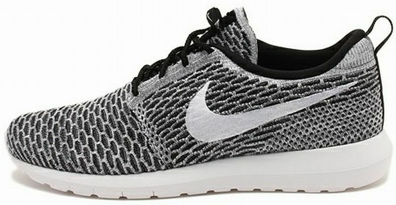 NIKE one FLYKNIT ROSHERUN Black-White-Grey natural motion sneakers roshe one NIKE new 9fc3cf