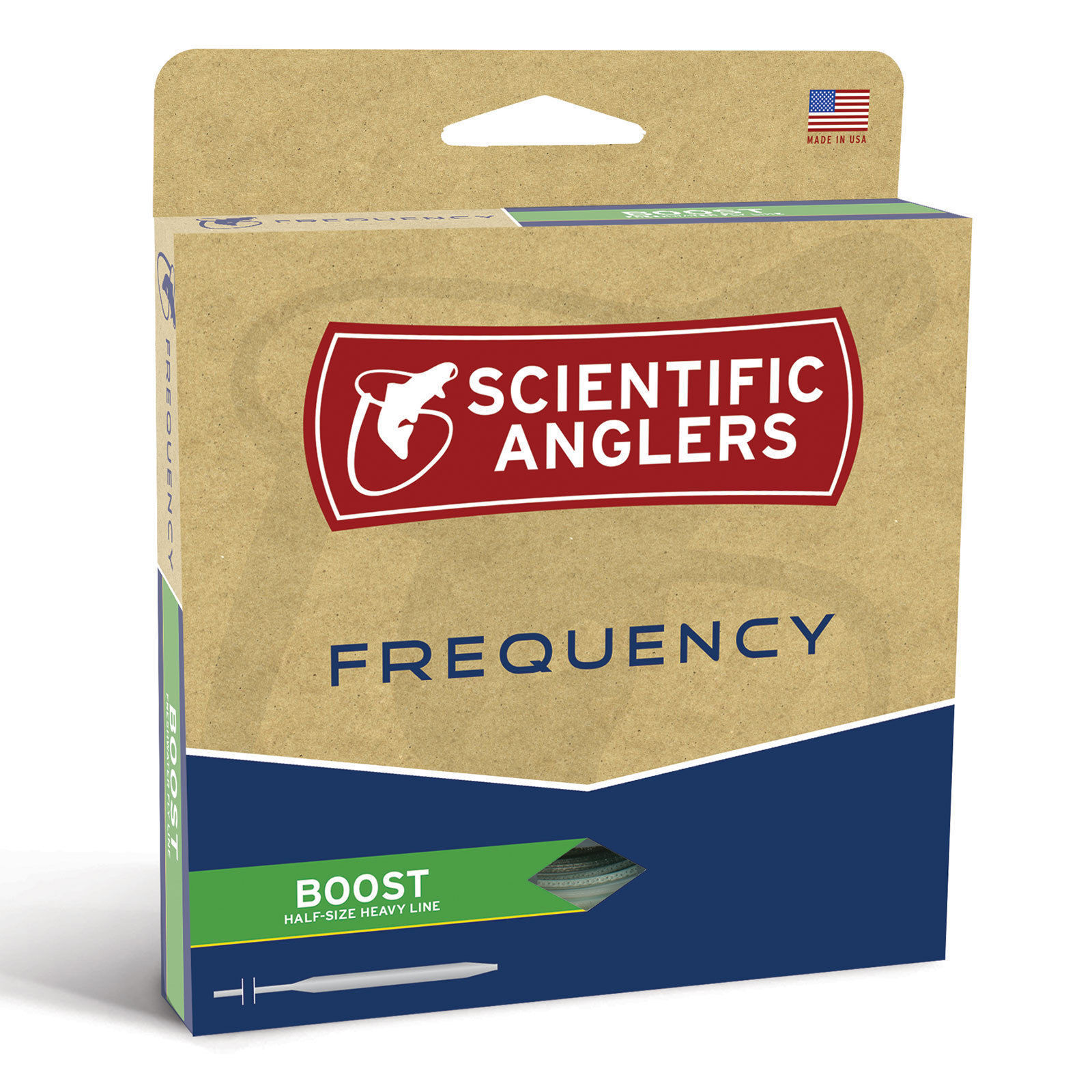 SCIENTIFIC ANGLERS FREQUENCY BOOST WF-8-F  LINE 8 WEIGHT FLY LINE  1/2 SIZE HEAVY 584079