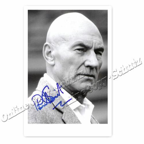 Patrick Stewart Star Trek Captain Picard Autogrammfotokarte