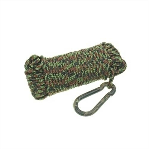"Brown Mossy Oak Hollow Braid Anchor Line 1//4/"" X 50/' With Camouflage Hook Tan"