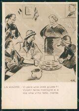 Militari Propaganda Fascismo WWII Madri Italia Apolloni FG cartolina XF3981