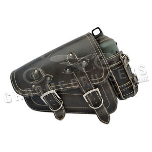 Harley-Davidson-Sportster-Vintage-Arriere-Cuir-Simple-Sacoche-1L-Bouteille