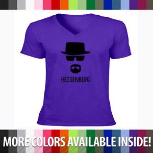 Breaking-Bad-Walter-White-Heisenberg-Badass-Cool-Mens-Unisex-V-Neck-T-Shirt-Tee