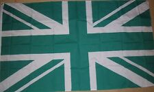 5ft x 3ft Great Britain Union Jack UK Green Flags Indoor Outdoor Polyester