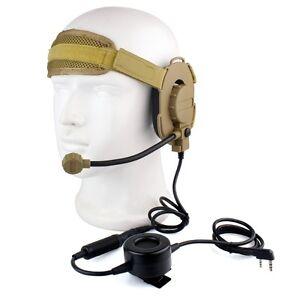CS-HD03-Z-Tactical-Headset-Earpieces-Waterproof-PTT-BaoFeng-UV-5R-Kenwood-Radios