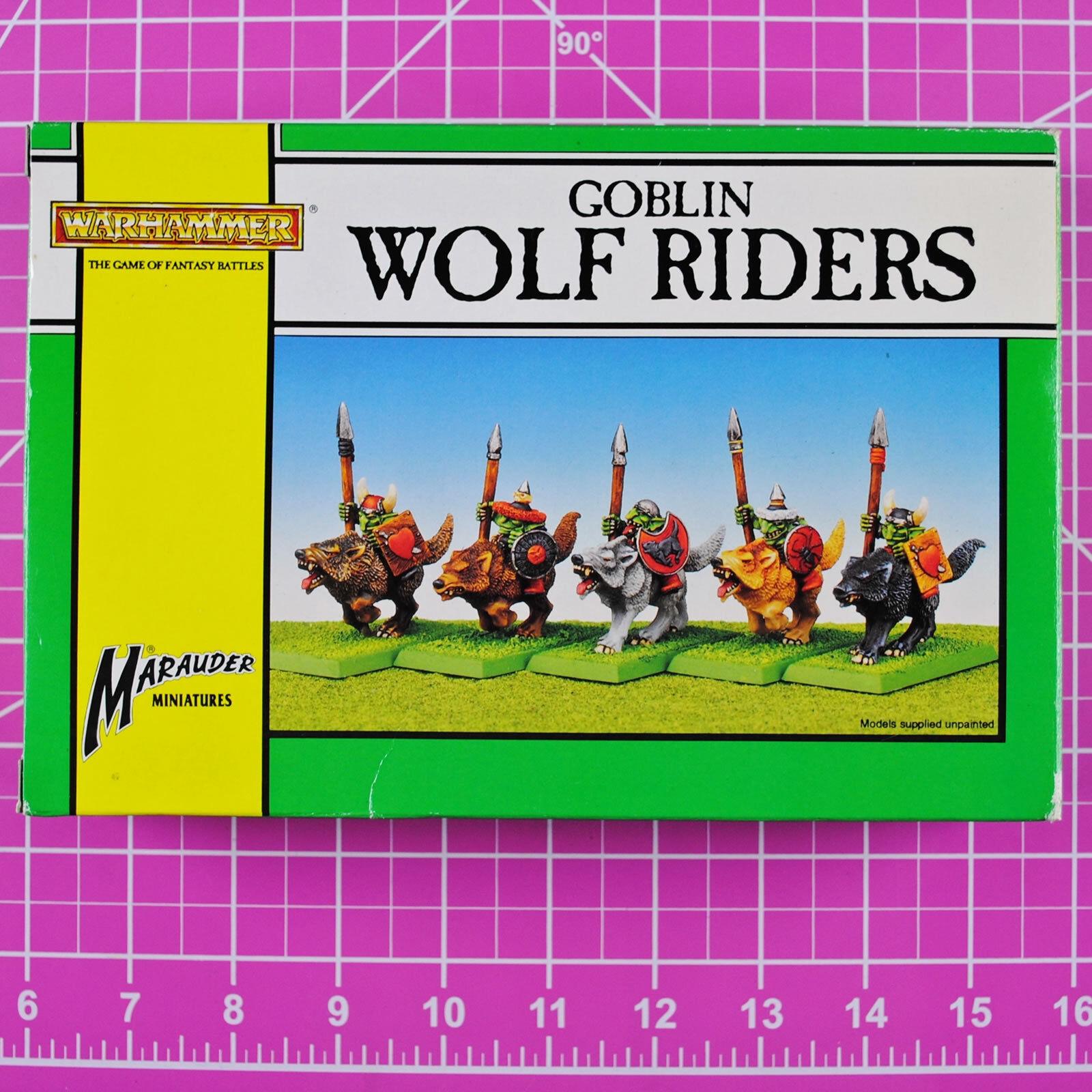 Warhammer Marauder Goblin Wolf Riders - Metal OOP Citadel Goblins Wolfboyz Greds