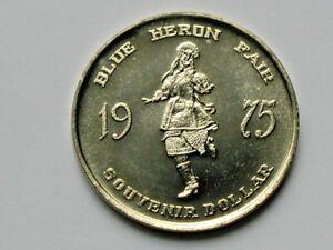 Barrhead-AB-CANADA-1975-Trade-DOLLAR-Token-with-Heron-Bird-amp-Ukrainian-Dancer
