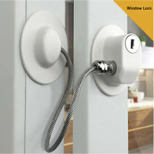 Fridge Lock Refrigerator Lock with Keys Freezer Lock Child Safety Cabinet Lock with Strong Adhesive Child Safety Lock Window Refrigerator Limit Lock for Drawer Door Secur A
