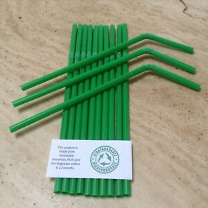 1000 Straws Straight Black 8in // 20cm