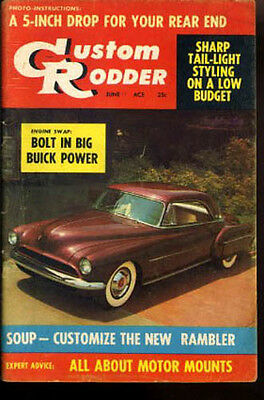 Punctual Custom Rodder Zeitschrift Vtg June 1958 Rambler Hot Rod Hintere Drop Soup Up Durable Modeling Accessoires & Fanartikel
