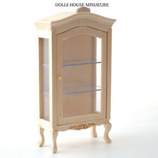 Plain Wood Display Cabinet with Opening Door, Doll House Miniatures