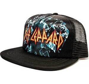 Def Leppard Mesh Sublimated Hard Rock Heavy Metal Trucker Cap Hat ... c50b7bcfc84