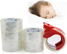 No Noise Quiet Clear Packing Tape Heavy Duty Packaging Tape Refill Rolls For