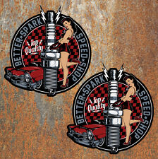 Better Spark Speed Shop Stickers Hot Rod Vintage Retro Classic Cars Pinup Decals