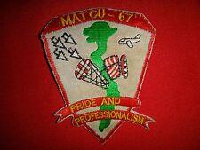 Vietnam War Patch US MARINE AIR TRAFFIC CONTROL UNIT MATCU-67