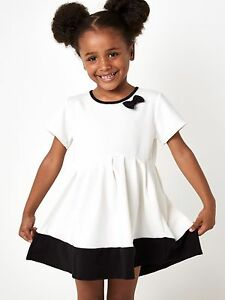 Image Is Loading S Dresses Kids Clothing Clic Cream Black Bow