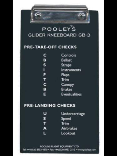 Pooleys GB-3 Glider Pilots Kneeboard *Best Value*