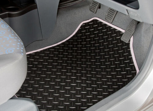TAILORED RUBBER CAR MATS WITH WHITE TRIM 3884 2016-ON FORD TRANSIT CONNECT VAN
