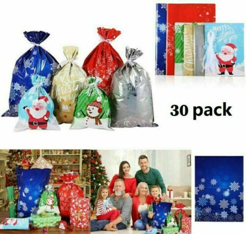 30pcs Large Gift Bag Wedding Birthday Party Candy Bags Cookie Pouch Drawstring