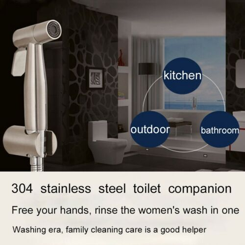 Toilet Bidet Sprayer 304 Stainless Steel Hand Held Bathroom Shower Head Cool @fy