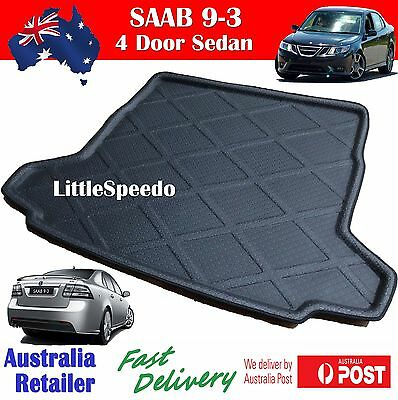 Saab 9-3 Boot Liner Cargo Mat Trunk Tray Protector - Black