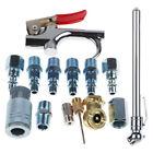 14 pc Air Compressor Hose Fittings Pneumatic Compressor Hose Blow Gun Tool Set