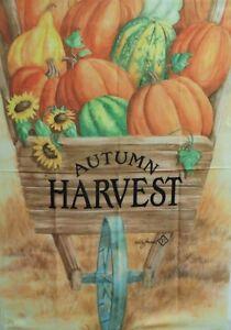 "Autumn Harvest Wheelbarrow Standard Flag, Toland, 28"" x 40"", Thanksgiving #1765"