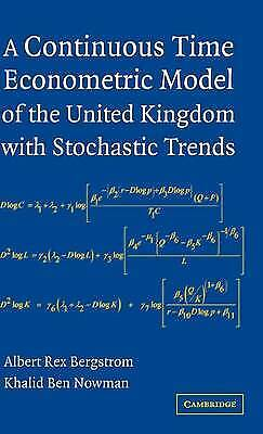 A Continuous Time Econometric Model of the Unite, Albert Rex Bergstrom, Khalid B