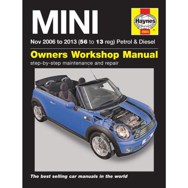haynes workshop repair owners manual mini mk 2 petrol diesel nov rh ebay co uk owners manual mini cooper 2010 service manual mini cooper r50