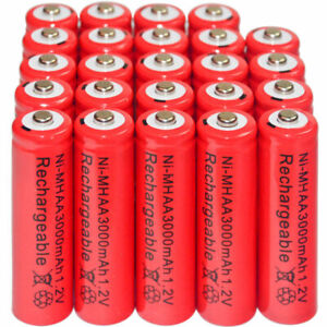 24-x-AA-3000mAh-Ni-Mh-1-2V-rechargeable-battery-Cell-for-MP3-RC-Red-US-Stock