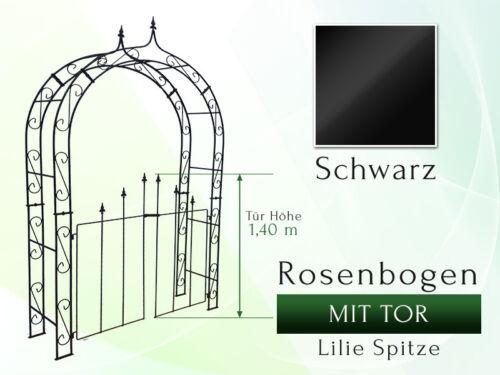 Rosenbogen HOLLAND LILIE-SPITZE mit Tür 1,40 m Gartenbogen Canzello di Rose