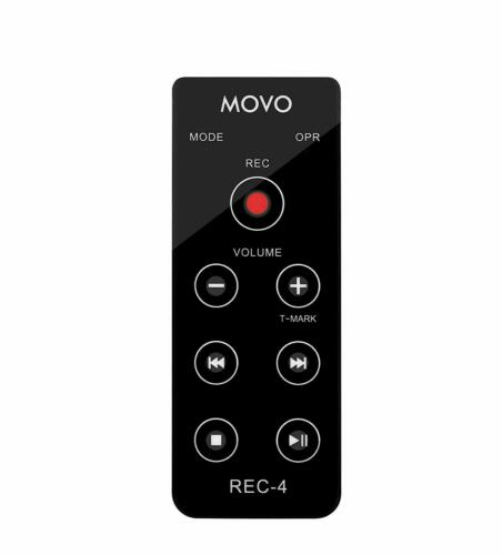 Movo REC-4 Wired Remote Control for Zoom and Sony Portable Digital Recorders