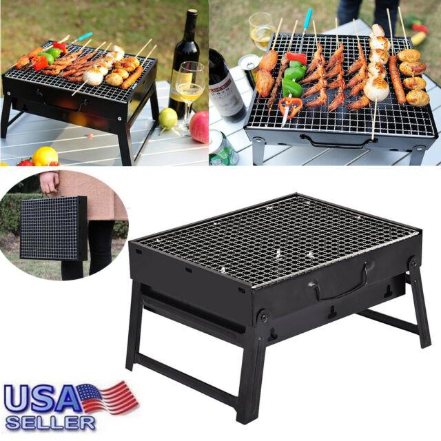 Blaze Box Charcoal BBQ Grill Smoker Outdoor Garden Portable Cook Barbecue Table