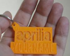 Aprilia Personalised Named Rubber 3D Keyring Motorbike Keychain Key fob Gift
