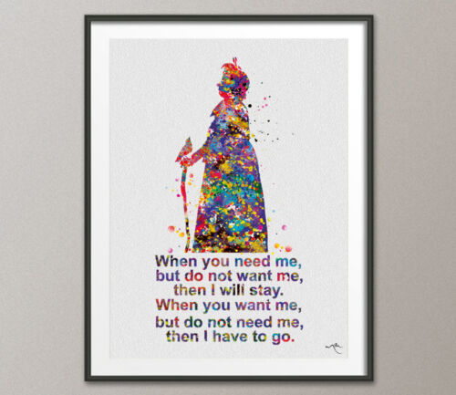 Nanny McPhee Quote Watercolour Print Nursery Decor Baby Gift Inspirational Art