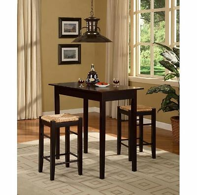 Pleasant Bar Stool Table Set 3 Piece Kitchen 2 Counter Height Brown Dining Furniture Ebay Ocoug Best Dining Table And Chair Ideas Images Ocougorg