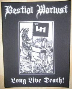Bestial Warlust Long Live Death Backpatch Destroyer 666 Vomitor Blasphemy