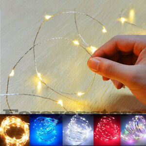 50//100//200//300 LED Wire Copper Fairy String Lights Party Wedding Christmas Xmas